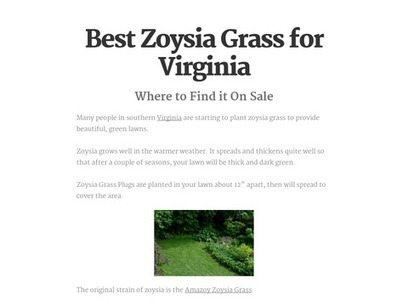 Best Zoysia Grass for Virginia | Zoysia Grass Plugs Review | Scoop.it