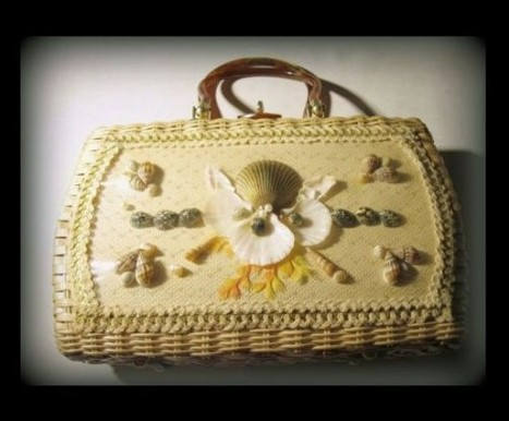 Vintage Atlas Princess Charming Seashell Purse in Rare Natural Wicker | madhatsandmore - Accessories on ArtFire | Vintage Beauty | Scoop.it