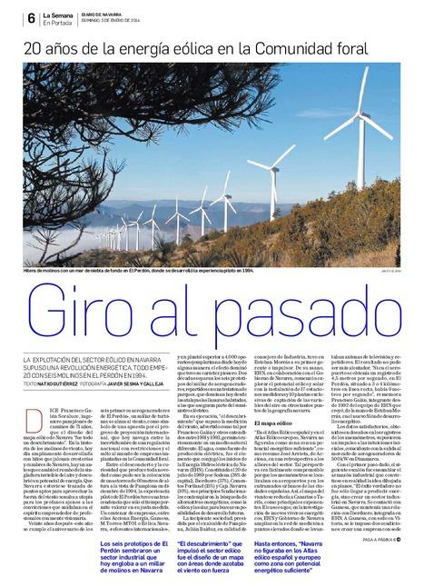 20 años de energía elólica en la Comunidad foral | PROYECTO ESPACIOS | Scoop.it