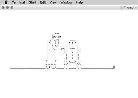 Mac users… time to Geek out… | ASCII Art | Scoop.it