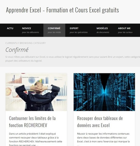 10 sites et tutos Microsoft Excel du débutant à l'expert  | Animation Numérique de Territoire | Scoop.it