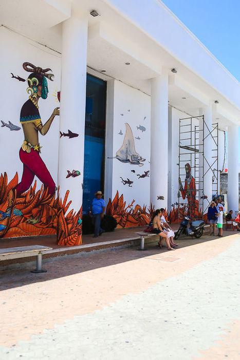 Street Artists Cover Mexican Island In Murals To Help Save Sharks And Manta Rays   Arte y Cultura en circulación   Scoop.it