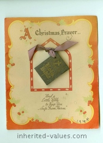 Miniature Bibles On Greeting Cards | Antiques & Vintage Collectibles | Scoop.it