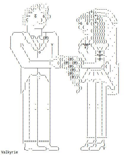 Chris.com - ASCII ART - Weddings - Bride - Groom | ASCII Art | Scoop.it