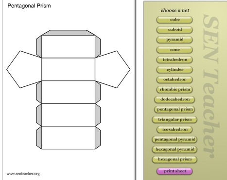 Nets (3D Models) : Free Printables : SEN Teacher ~ Free teaching resources for Special Needs. | HCS Learning Commons Newsletter | Scoop.it