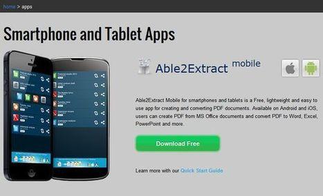 Able2Extract, crea y convierte PDF desde tu iOS o Android | EduEines | Scoop.it