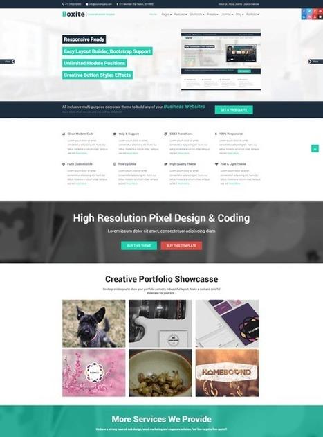 TM Boxite - Responsive Corporate Joomla Template | Free & Premium Joomla Templates and WordPress Themes | Scoop.it
