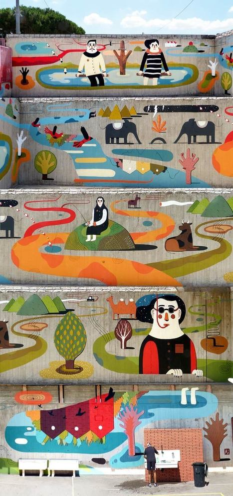 The poetic street art of Agostino Iacurci | The Integral Landscape Café | Scoop.it