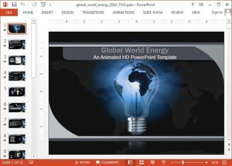 Animated Global Energy PowerPoint Template for Presentations | Business and Productivity Tools | Scoop.it