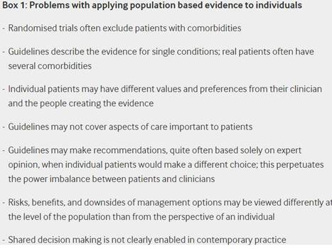 Making evidence based medicine work for individual patients | Co-creation in health | Scoop.it