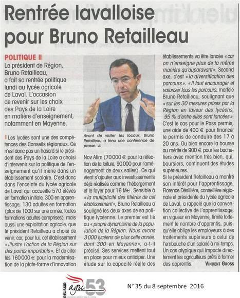 Rencontre avec Bruno Retailleau au lycée agricole de Laval | Le lycée agricole de Laval | Scoop.it