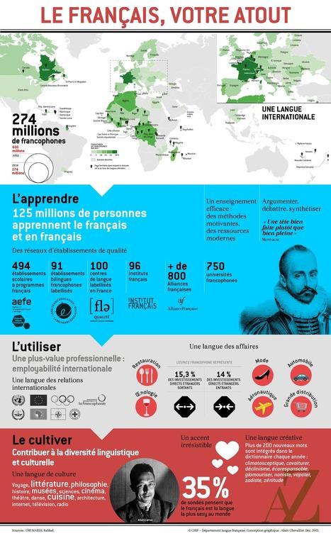 Infographoe: le français, votre atout | FLE et nouvelles technologies | Scoop.it