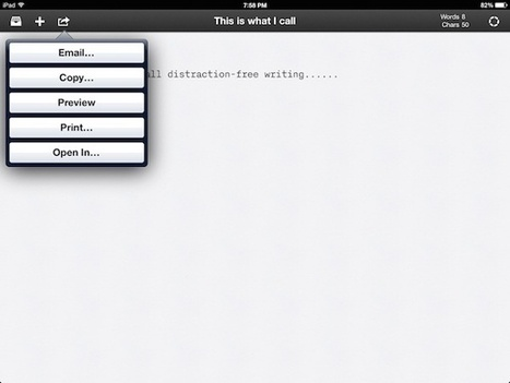 iA Writer- A Great Distraction-Free Focused Writing App For iPad - TechnoDuet | Tech n Tech | Scoop.it