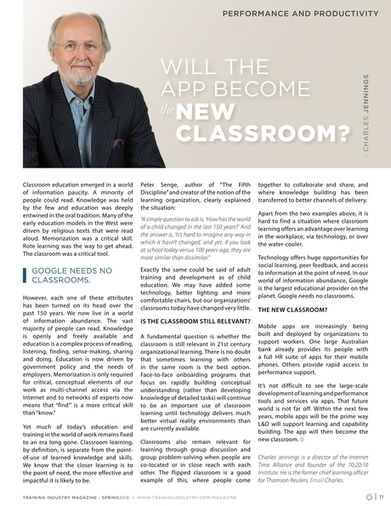Training Industry Magazine - Spring 2016 - Will the App Become the New Classroom? | Future of corporate learning | Scoop.it