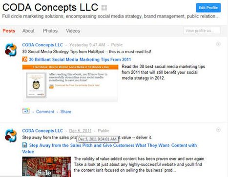 6 Ways to Use Google+ for Marketing Your Business Online | Social media culture | Scoop.it
