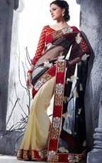 Stunning Collection of Designer Party Wear Sarees Online | Indian Wardrobe | Scoop.it