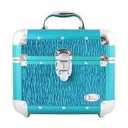Turquoise Vintage Allure Beauty Makeup Train Case Cosmetic Organizer Nail Art | KC Makeup by Karuna Chani | Scoop.it