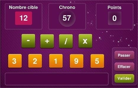 Mathador : secouez, calculez, partagez - Jeu en ligne et application | TICE | Scoop.it