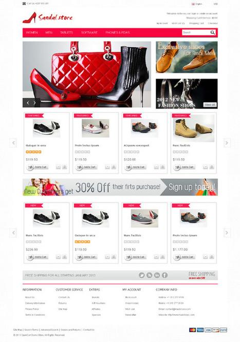 Sandal, OpenCart Responsive Men Womens Shoes & Bags Theme | Premium Download | Premium Opencart Themes | Scoop.it