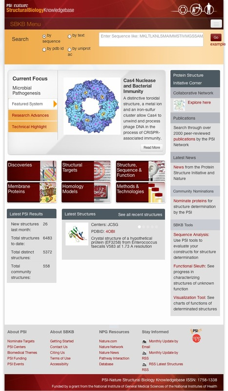 psi - A Structural Biology Knowlegebase | bioinformatics-databases | Scoop.it