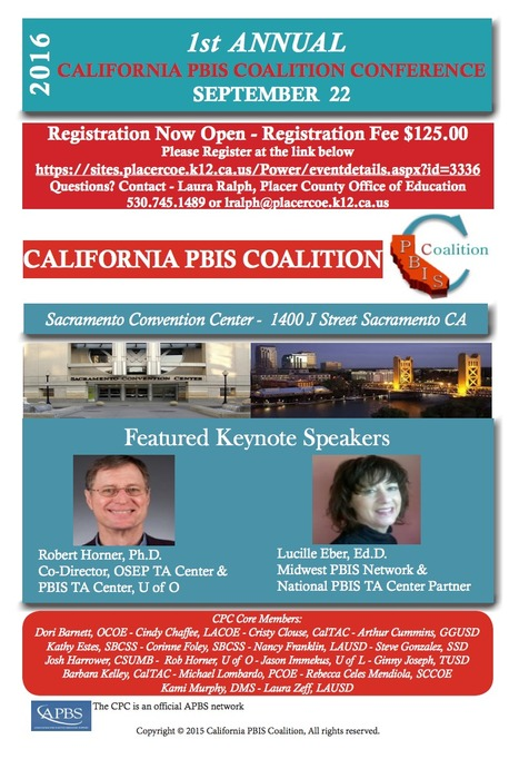 2016 California PBIS Conference // September 22nd, 2016 | Santa Clara County Events and Resources to Support Youth Development | Scoop.it