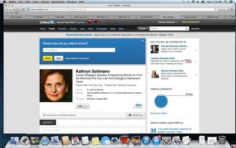 Make Linkedin a Return-to-Work Pal - 9livesforwomen.com | 'Mumback': advice for SAHMs returning to work | Scoop.it