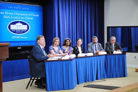 White House honors 12 faith leaders as climate-change 'champions'   Echos des Eglises   Scoop.it