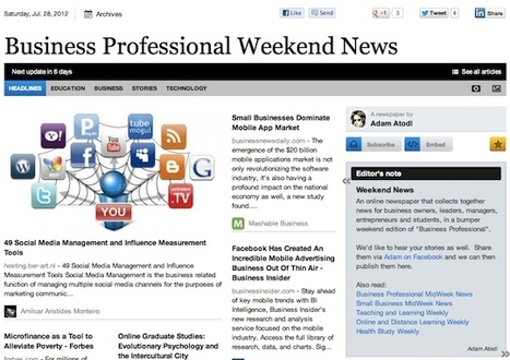 July 28 - Business Professional Weekend News | Business Futures | Scoop.it