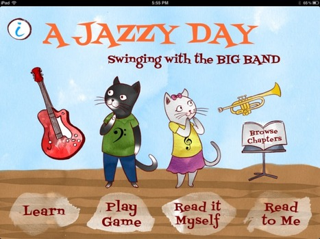A Jazzy Day - Music Education Book for Kids for iPad - Digital Storytime's 5-Star Review | Publishing Digital Book Apps for Kids | Scoop.it