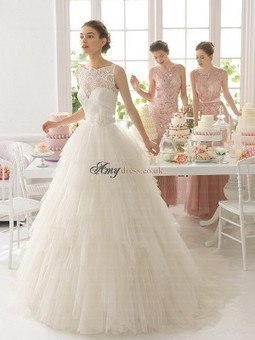 Cheap Sleeveless Natural Court Train Applique Wedding Dresses Sale at Amydress.co.uk | amydress | Scoop.it