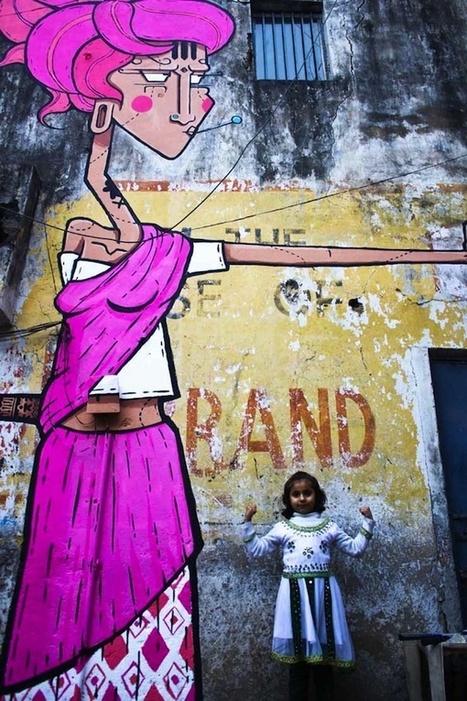 India Street Art - MISTURA URBANA   Revitalizar espaços públicos. Imagens e textos que ilustram condições existentes e visão de comunidade, para recriar ou criar espaços amigáveis, melhorando a qualidade de vida, saúde e vitalidade econômica.   Scoop.it