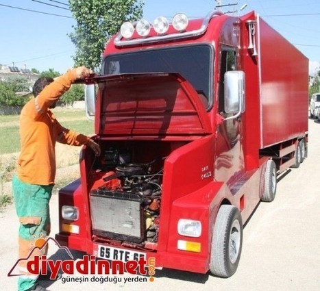 Turkish Motorist Builds His Own Heavy Truck Using Only Second-Hand Parts and Scrap Metal   Strange days indeed...   Scoop.it