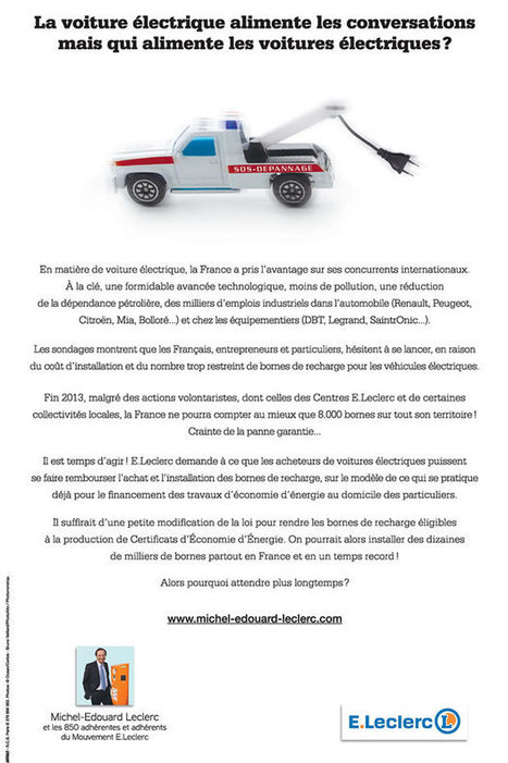 Voiture électrique : Michel Edouard Leclerc rejoint le combat | CRAKKS | Scoop.it