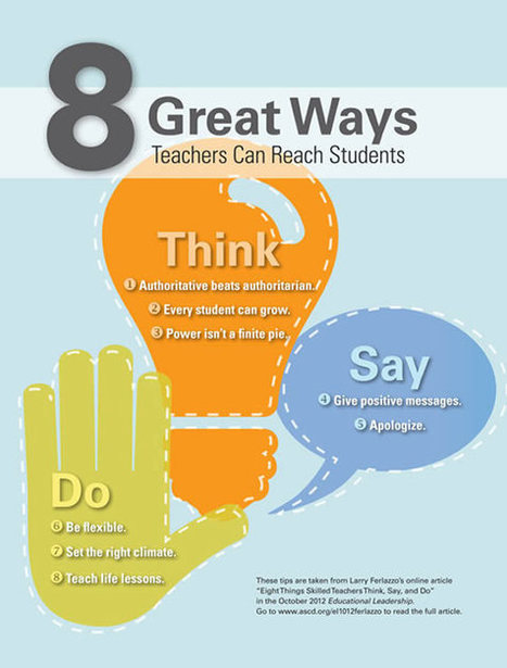 :Eight Things Skilled Teachers Think, Say, and Do | Leading by Example | Scoop.it