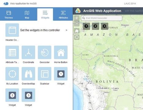 Uma primeira aplicação no Web AppBuilder for ArcGIS - GEO4DEV | ArcGIS Geography | Scoop.it