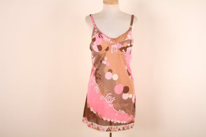 Vintage Pucci Slip -1960s Nightgown- Mini Slip Dress - Formfit Rodgers 36B | Lingerie Love | Scoop.it