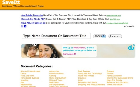 SaveItt   Free Books, PDFs and Documents Search Engine   Technology and elearning   Scoop.it
