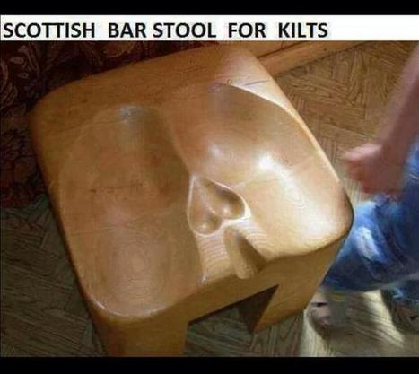 Twitter / stephenfry: Scottish bar stool for kilts ... | gbs and justice in Canada is Lacking | Scoop.it
