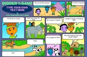 The Book Chook: Make a Comic at Digger and the Gang | EFL Kids | Scoop.it