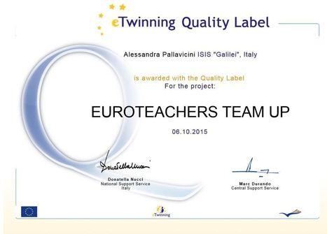 Euroteachers team up | Proyectos eTwinning en el IES Escultor Juan de Villanueva | Scoop.it