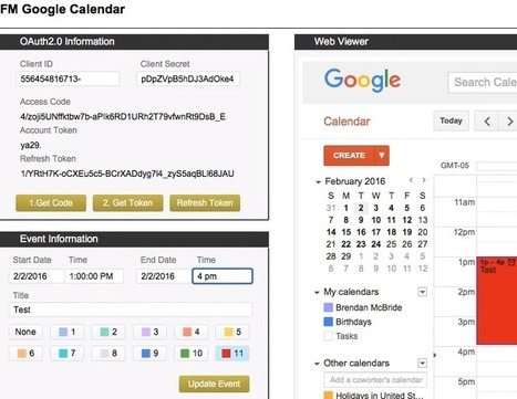FileMaker Google Calendar Integration | DB Services - FileMakerProGurus | Learning FileMaker | Scoop.it