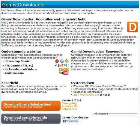GemistDownloader - HelpdeskWeb.nl | Mediawijsheid in het HBO | Scoop.it