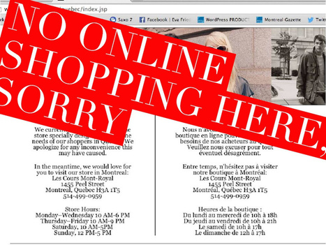 CH5: Blocked in Quebec: U.S. stores shut down English-only web sites when they open here | GHS Cultural Geography | Scoop.it