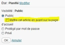 Mettre en avant des articles dans Wordpress | Printf | WordPress France | Scoop.it