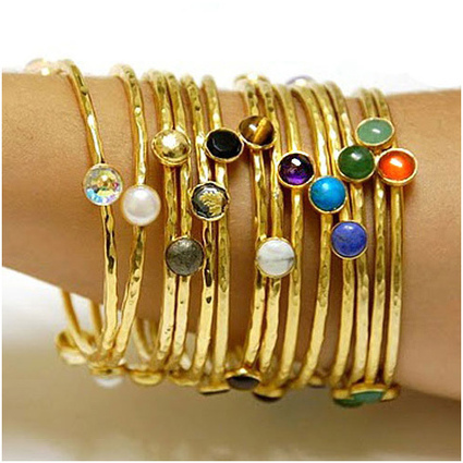 Bita Pourtavoosi Jeweled Stackable Bangle Bracelet | Arm Candy - Hottest Jewelry Trends 2013 | Scoop.it