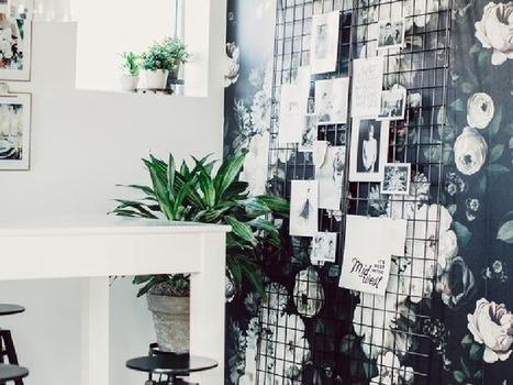 Un bureau féminin et élégant grâce au papier peint ! | Décoration | Scoop.it