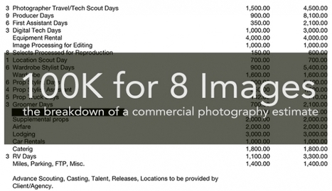 The Anatomy of a $100K Commercial Photography Estimate ...   Photography   Scoop.it