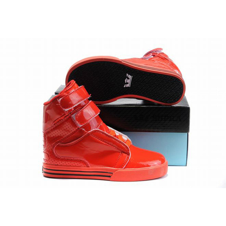 high top supra society all red for kids | new and share style | Scoop.it