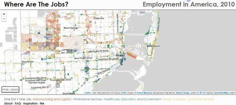 Where Are The Jobs ? Une nouvelle cartographie interactive sur la répartition des emplois aux Etats-Unis | Enseigner l'Histoire-Géographie | Scoop.it