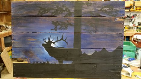 Midnight Elk on Pallet   1001 Pallets ideas !   Scoop.it